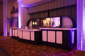 Black & White Bar with back bar
