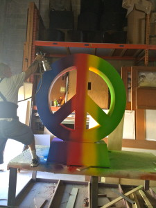Painting of peace sign