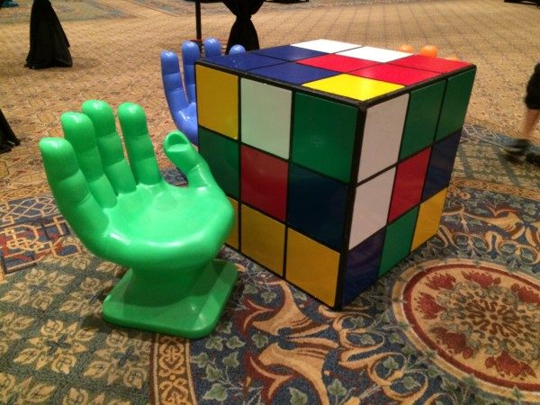 Rubiks Cube & Hand Chairs (3)